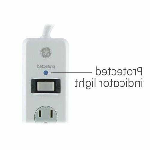 GE Surge Protector, 10 ft Extra Long Cord