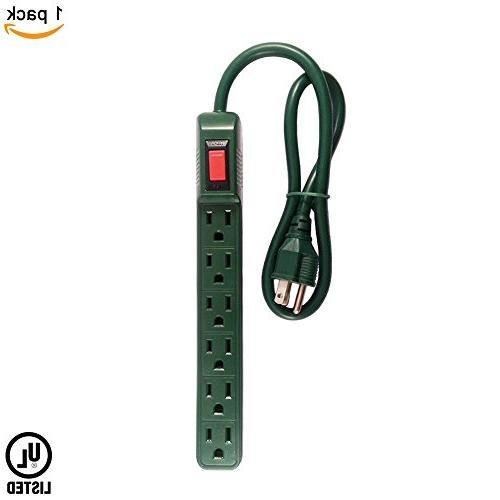 green slim 6 power strip