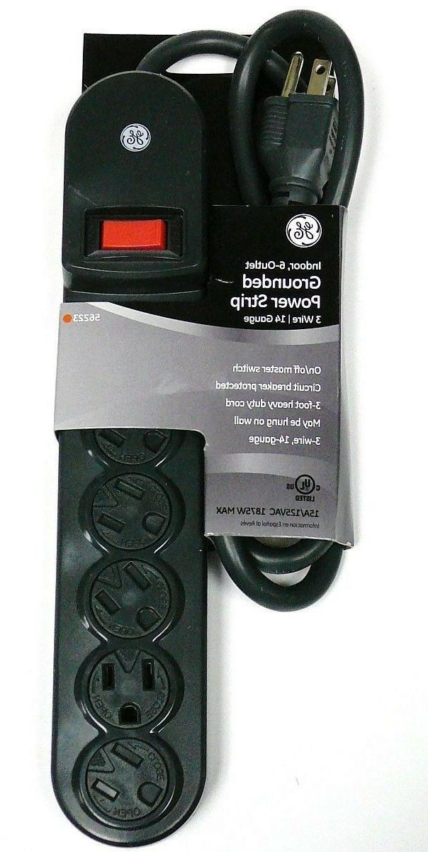 GE JASHEP56223 6-Outlet Grounded 3 ft Power Strip,with Child