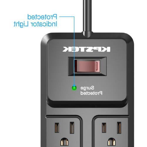 Mountable Protector with 2 Ports and Extension Cord