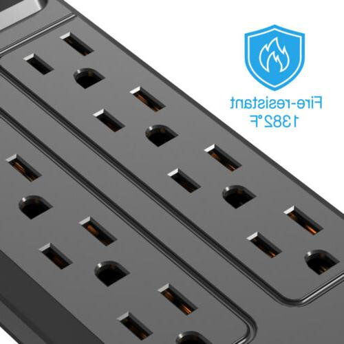 KPSTEK Power with USB Outlets Cord