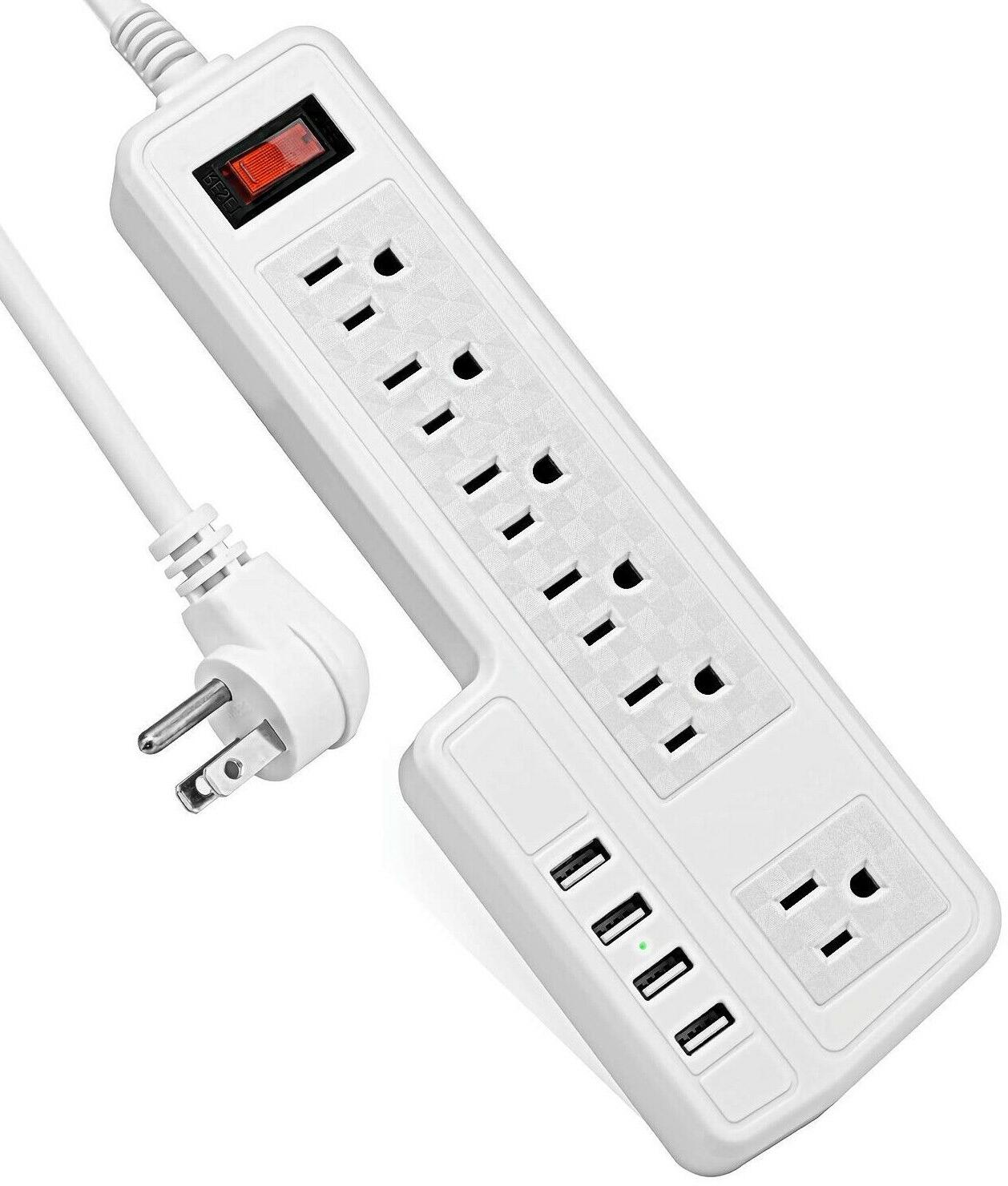 mountable surge protector power strip 9 8ft