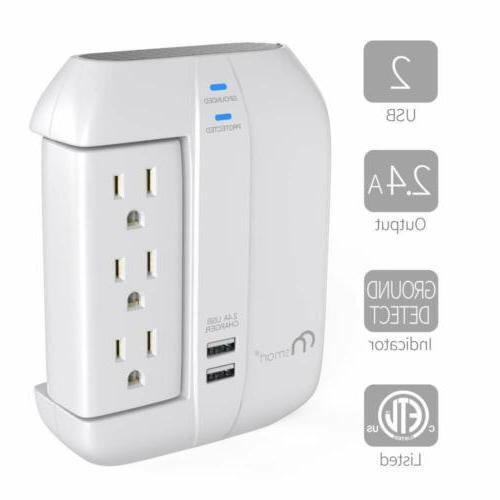 ON Smart Swivel Protector- Strip Outlets+2 Ports