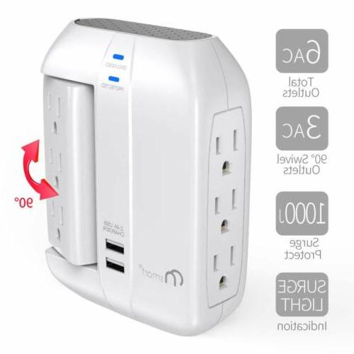 ON Swivel Protector- Outlets+2 Ports
