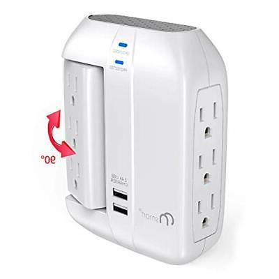 on smart wall tap swivel surge protector