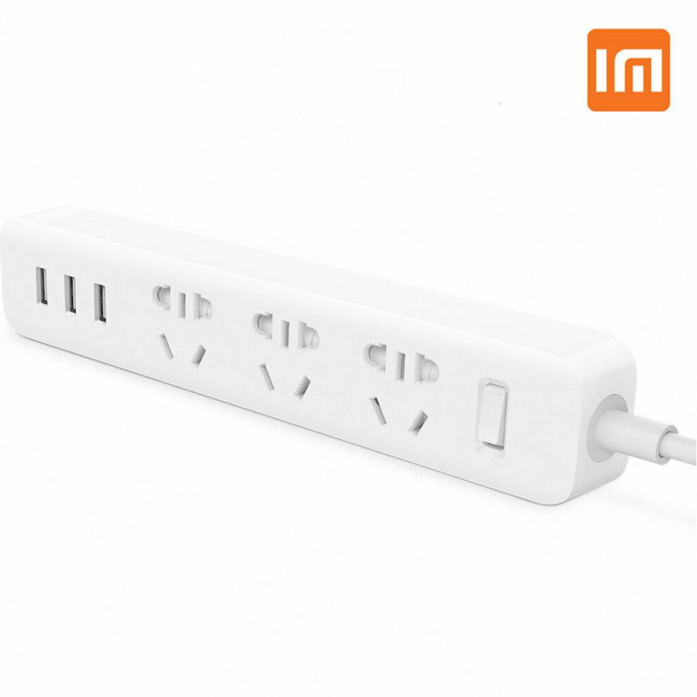 Original XiaoMi Power Strip 6 Outlet 3 USB Charging Ports So