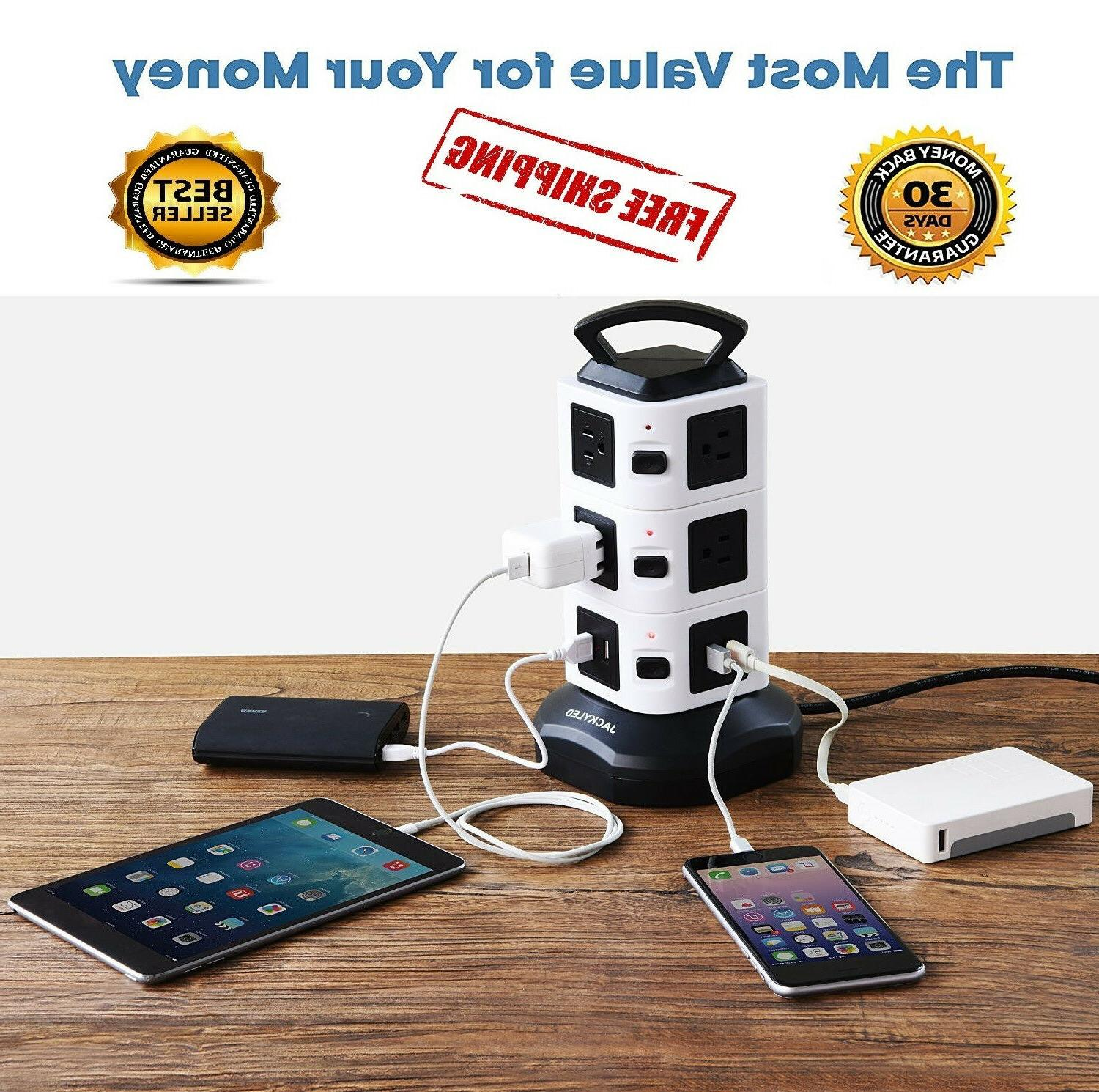 original power strip tower surge protector electric