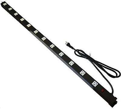 Opentron OT4126 Metal Surge Protector Power Strip 4 Feet 12