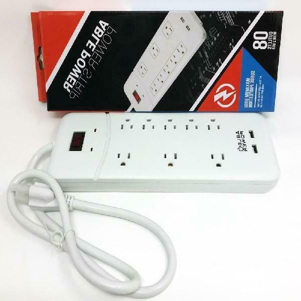 Outlet Strip Surge Protector with 2 USB 3ft Protection