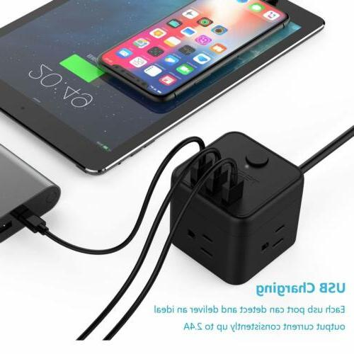 Small Strip Cube 3 USB Outlets, ft