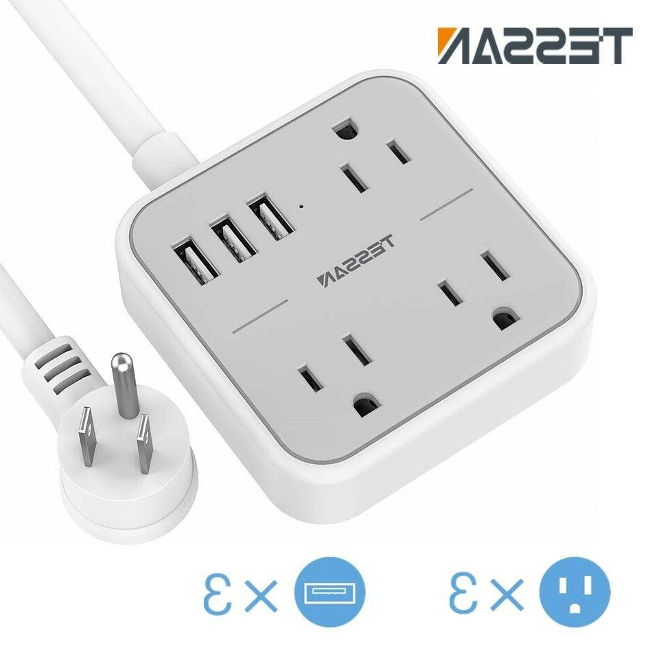portable power strip with 3 outlets 3