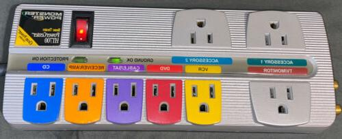 Monster Power HT700 Home Theatre Surge 8-Outlet Strip