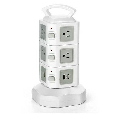 Power Strip with USB Surge Protector 10 AC USB Port Charge Power Supply