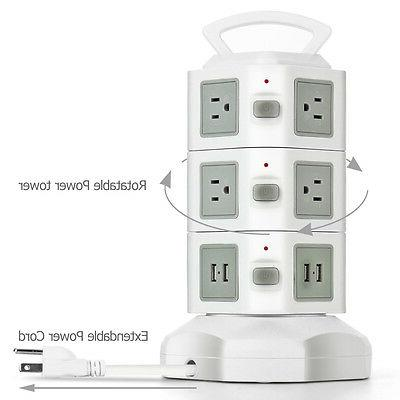 Power with Surge Protector - AC Outlet USB Power Adapter