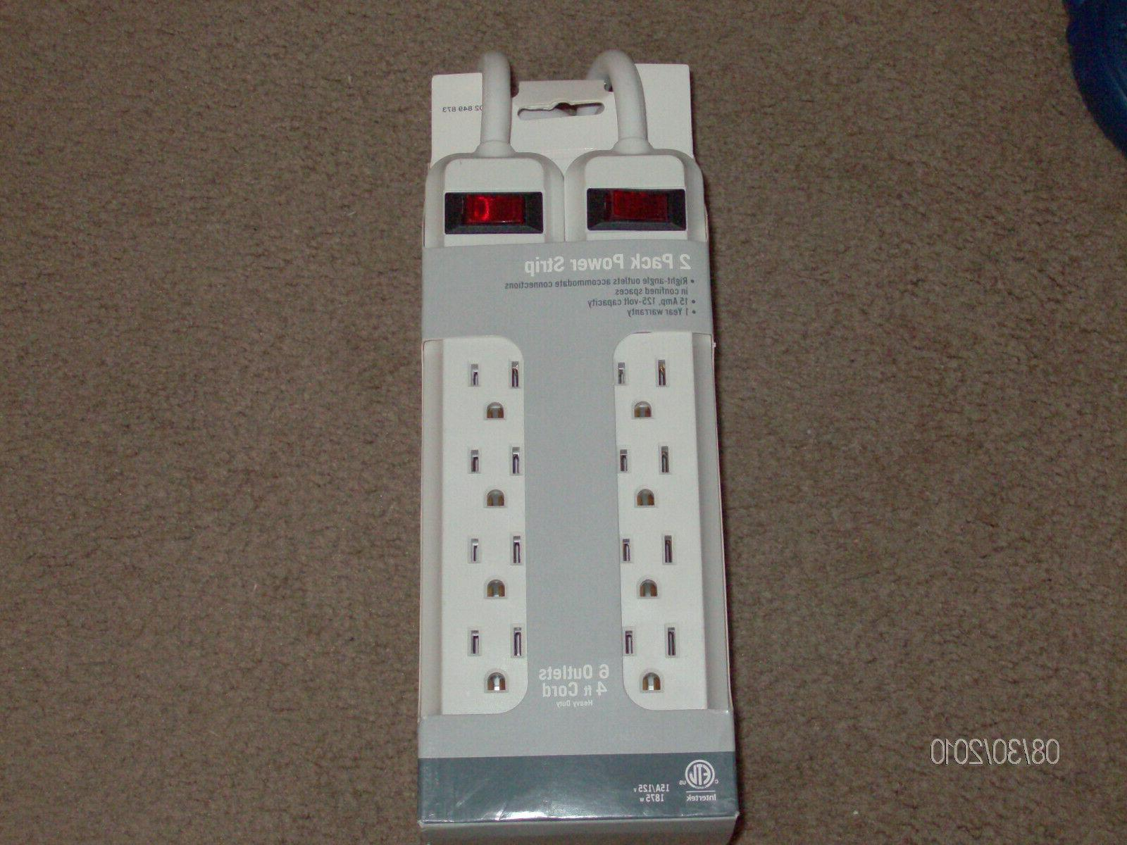 power strip brand new 2 pack power