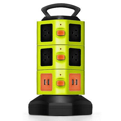 Power Strip with USB Surge Protector 10 Outlet 4 USB Port Ch