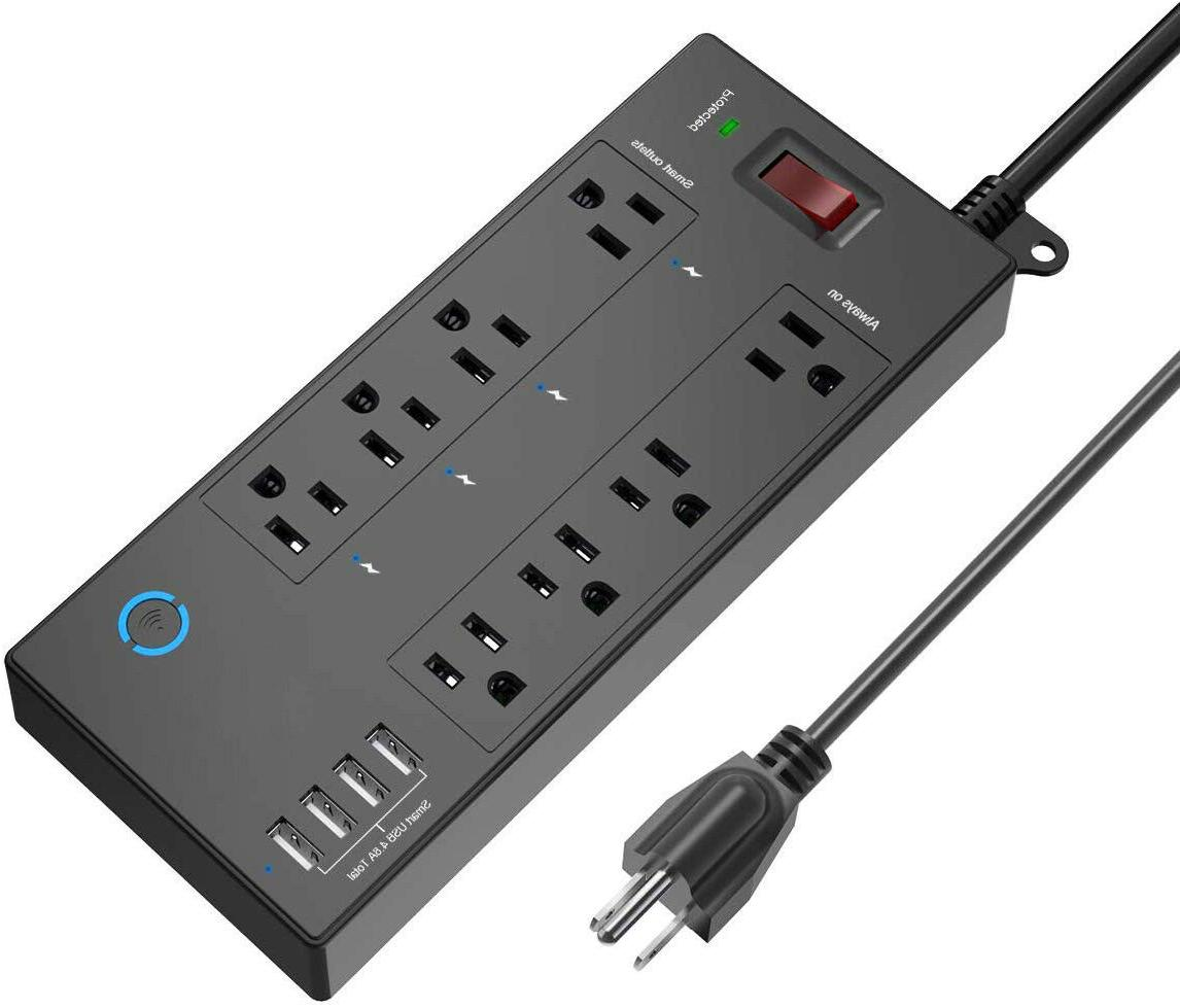 power strip smart surge protector wifi electric