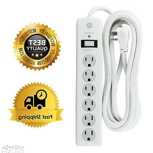 power strip sur protector 6 outlets 10
