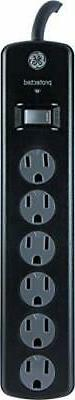 GE Power Strip Surge Protector, 6 Outlets, 8ft Extra Long Po