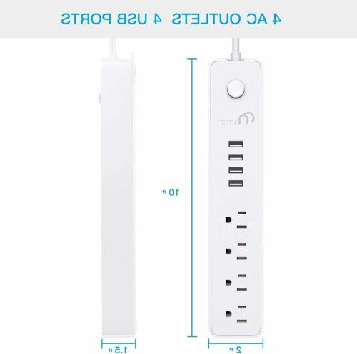 Power Strip Surge 4 4 USB Charging & Extension