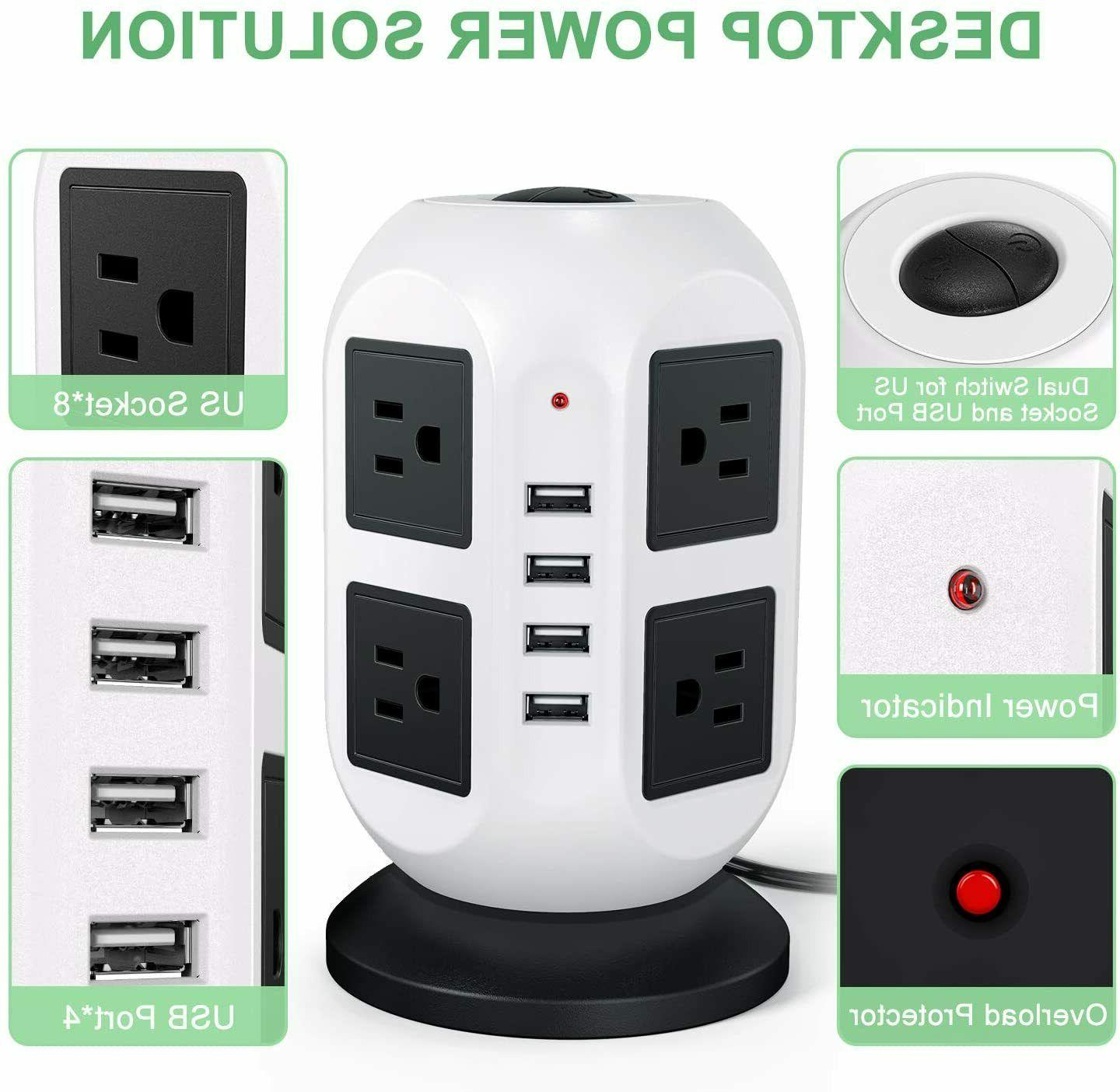 power strip surge protector 4 outlets 4