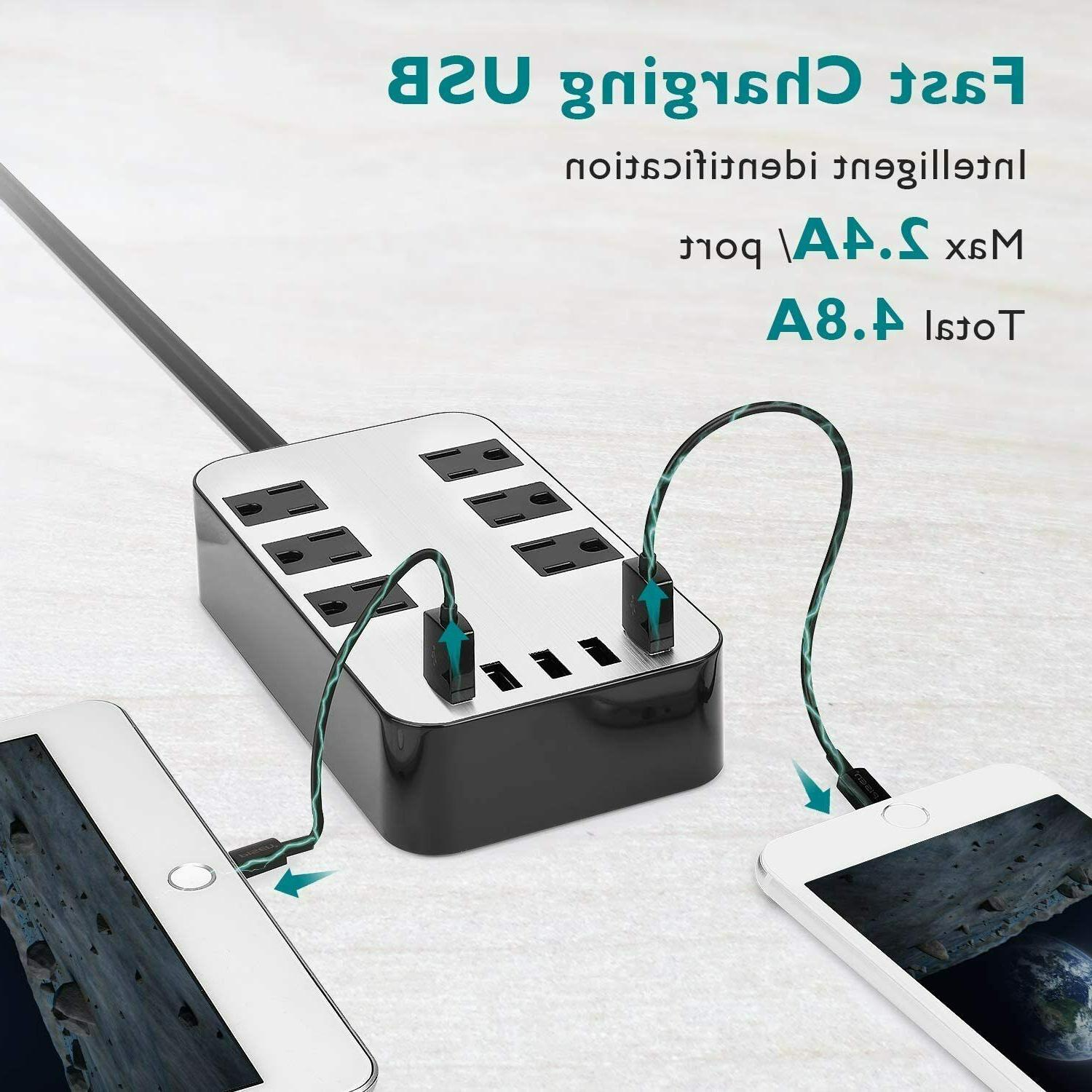 Power Surge USB Port Charger Charging Cord