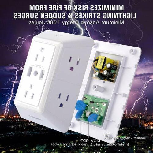 POWRUI Power Protector USB Charger with Light