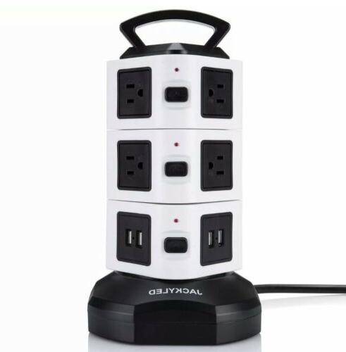 power strip tower 10 outlet plugs 3000w