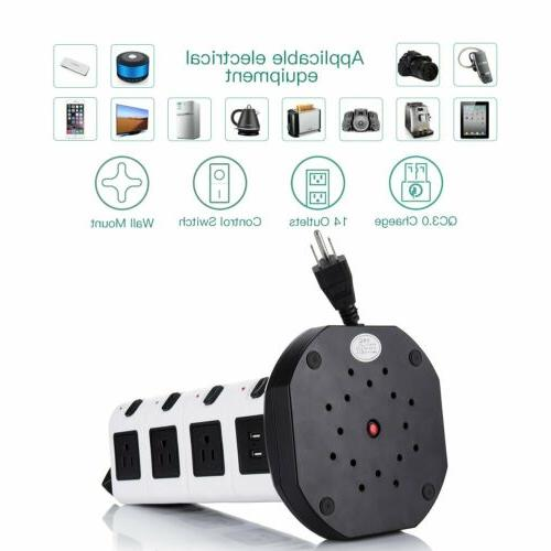 Power Protector 4 USB Ports Outlet 3000W
