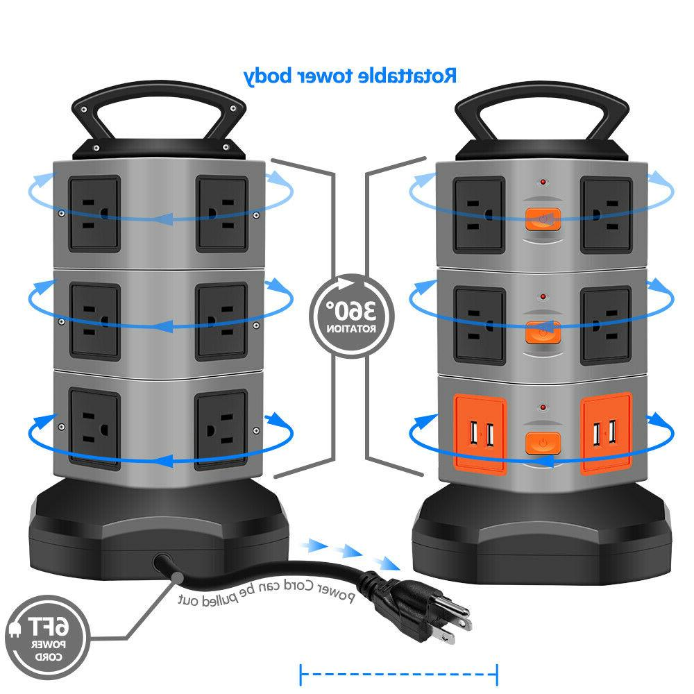 Power Strip Tower Overload Extender Cord