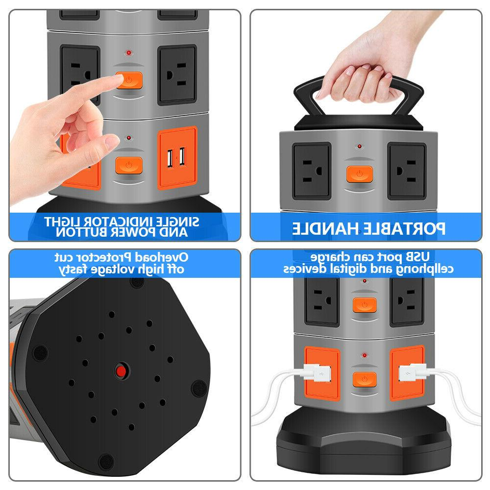 Power Overload Protector, Multi Plug Extender Extension