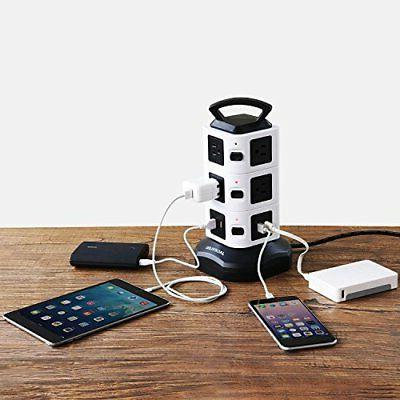 Power Strip Tower Surge Protector Charging Station