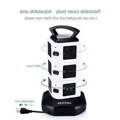 Power Tower Surge Protector Charging Station 3000W 13A