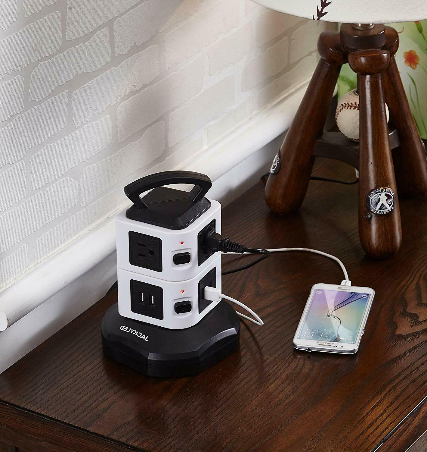 Power Strip Tower Surge Electric Charging Station 3000W