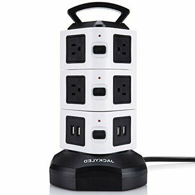 power strip tower surge protector without safety