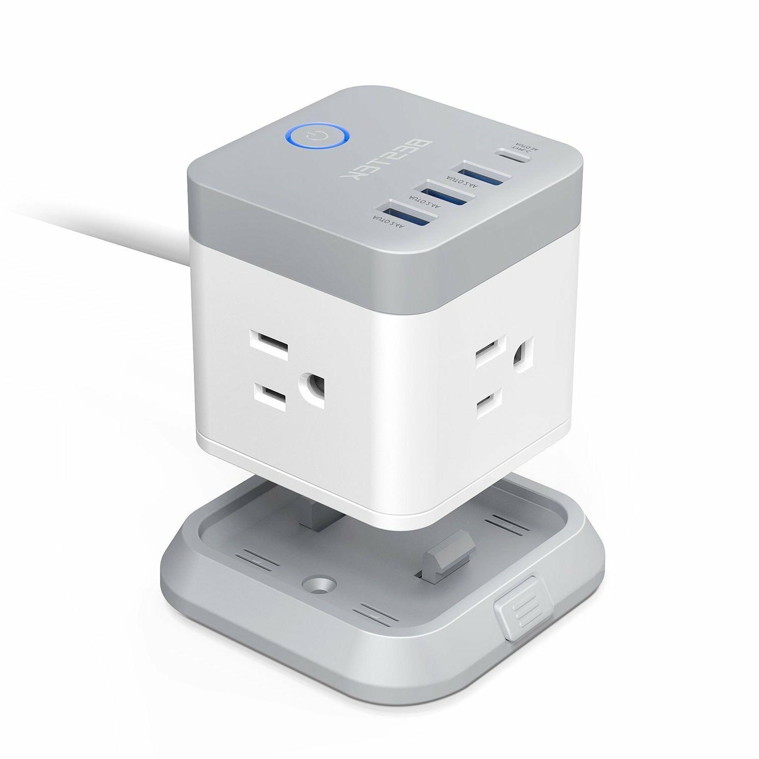 BESTEK Vertical Cube Power Outlet Extender with 3 Outlet 187