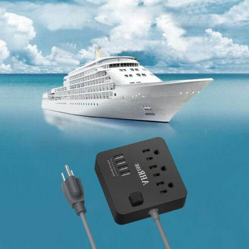 Power Strip Outlets 5ft Extension for Cruise Travel