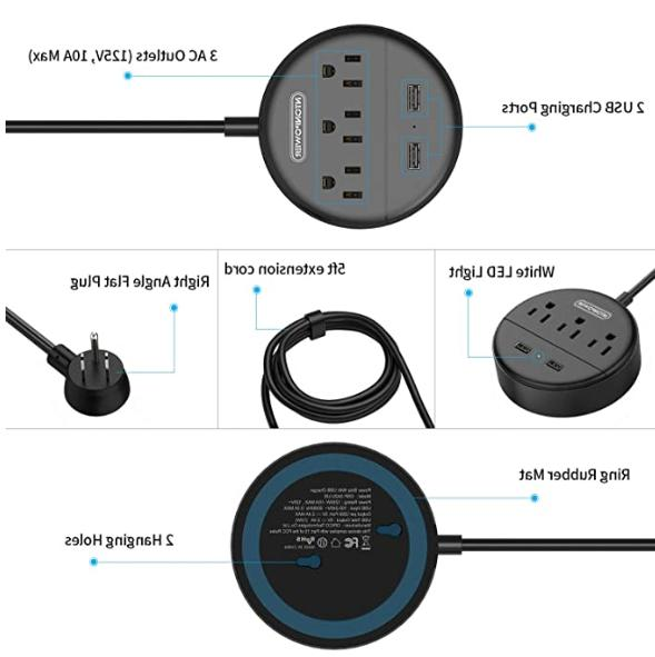 Power Strip 3 USB Ports Cruise