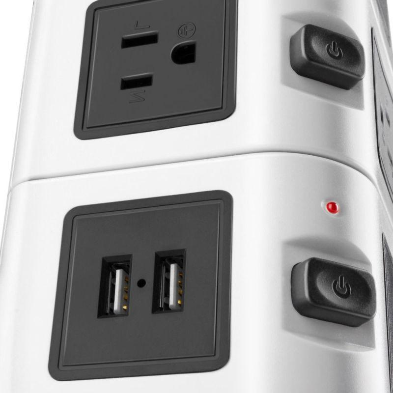 Power with Surge Protector 10 Outlet 4 Port