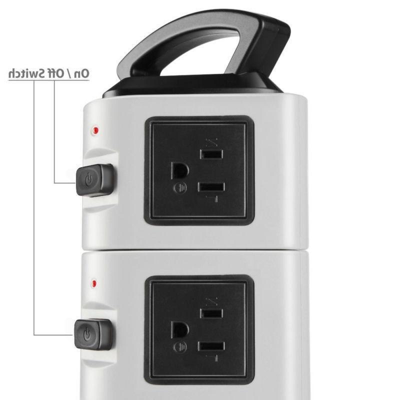 Power with USB Surge 4 Port Charging