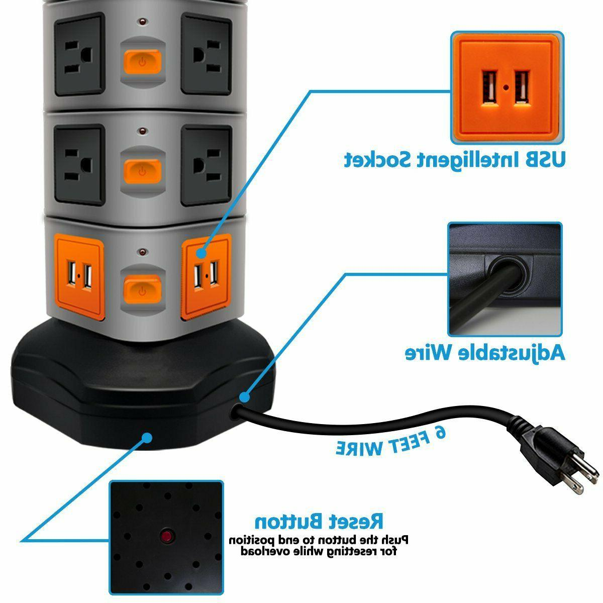 PowerStrip Surge Protector Electric Outlet 4