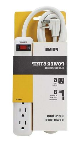 Prime Wire PB801115 Power Strip with 8-Foot