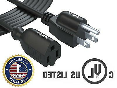 Pwr+ 12Ft Power Strip Liberator Extension Cord NEMA 5-15P to