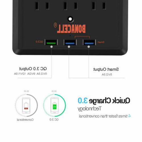 With wall Protector 3 Power Port