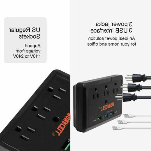 Charge Strip Outlet Surge 3 Port