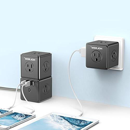 HOLSEM Power Protector 14 3 USB Ports and Extension