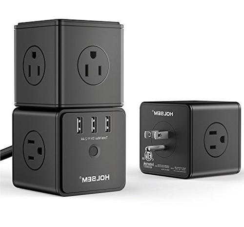 HOLSEM Cube Protector AC 3 USB and Extension Black