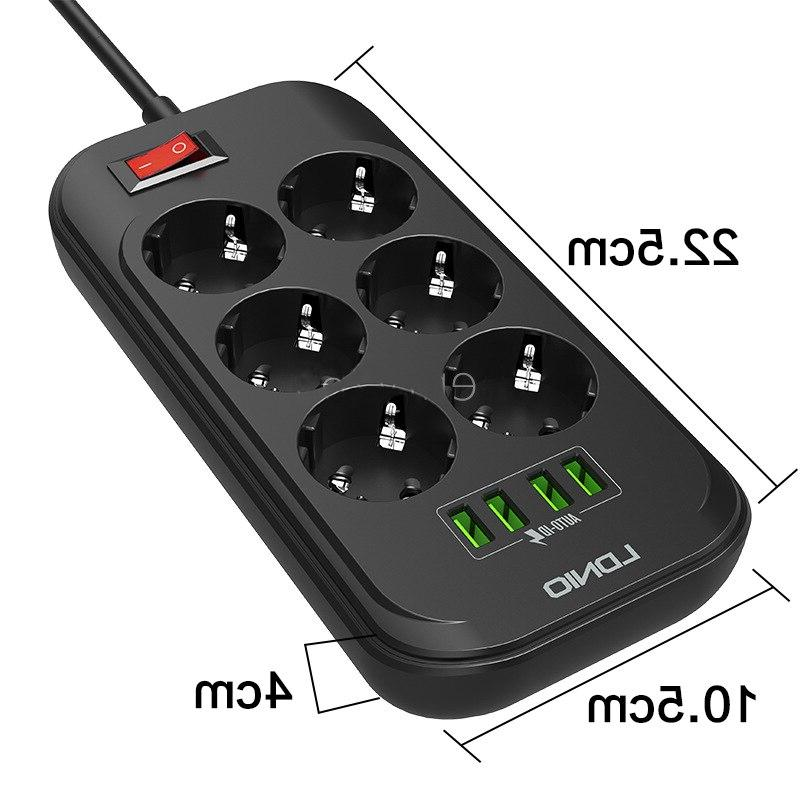 Smart Electrical EU Plug <font><b>Cable</b></font> Charger Overload Protection Home Switch