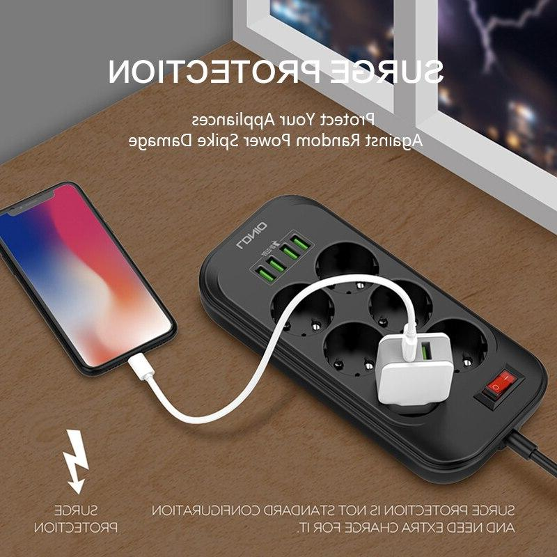 Smart Electrical Plug <font><b>Cable</b></font> board Charger Adapter Overload Protection Switch