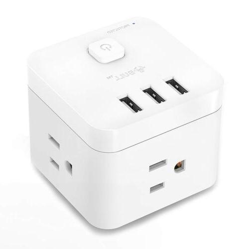 USB Charger Power Surge 3-Ports